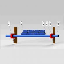 P型橡胶合金清扫器 带宽 800B~2000B 用于带式输送机 鼎力支护设备